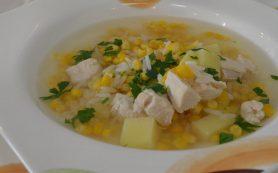 Суп с мясом и кукурузой