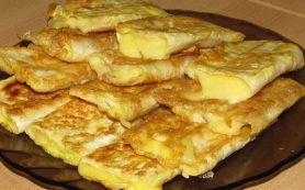 Сытный завтрак из тонкого лаваша
