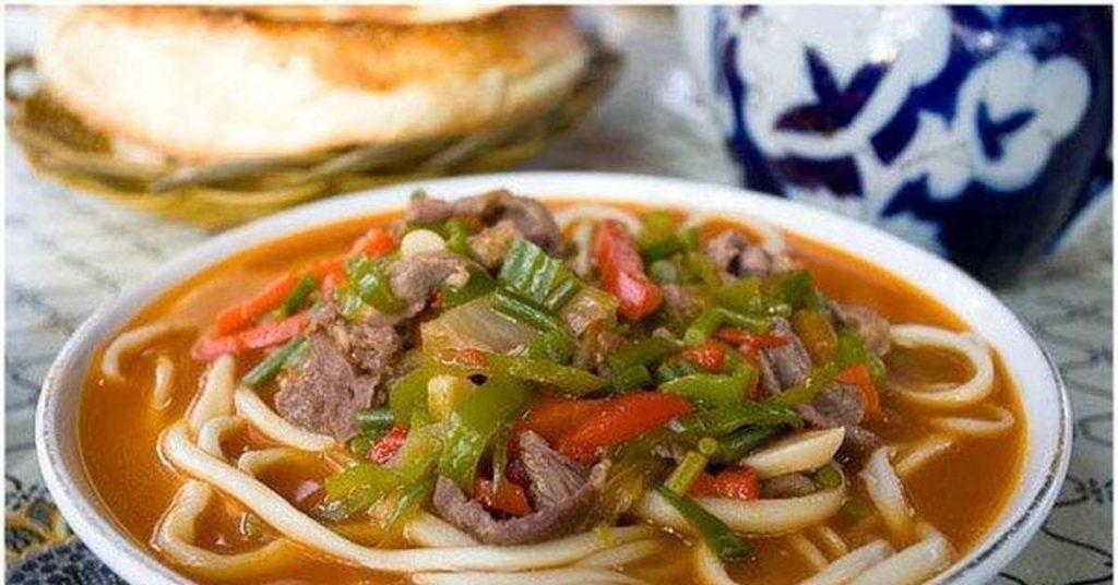 Лагман с говядиной по-узбекски