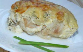 Рыба с сыром в сметане