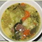 """Овощной суп """"Весенний"""""""