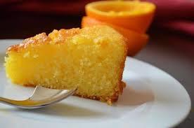 Постный кекс с апельсином