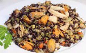 Осенние овощи с коричневым рисом