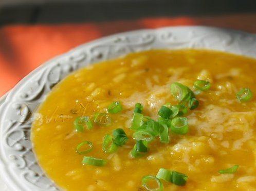 Суп-пюре из тыквы с рисом