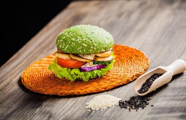 Зеленый бургер