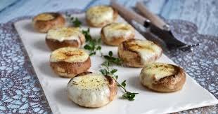 Шампиньоны с сыром. Легкая закуска за 15 минут