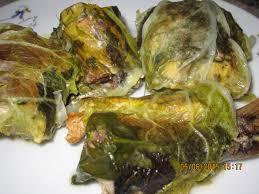 Рыба в листьях пекинской капусты