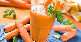 Сок морковный со сливками