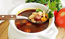 Ленивый фасолевый суп