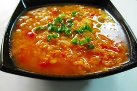 Индийский томатный суп с чечевицей