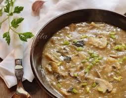 Шотландский грибной суп с овсяными хлопьями (постный)
