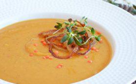 Кремовый чечевичный суп