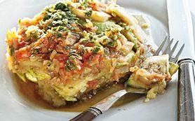 Тушеные кабачки с помидорами и баклажанами (рататуй)