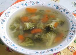 Куриный суп с брокколи и зеленой фасолью