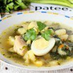 Куриный суп со свежей крапивой