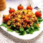 Полба с тушеными овощами