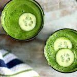 Смузи с зеленью и огурцом
