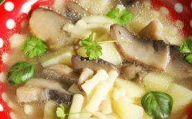 Синкапур — грибной суп с лапшой