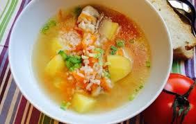 Суп из пекинской капусты с фрикадельками и рисом