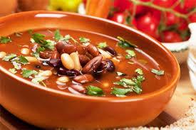 Sopa de tomate com feijão -томатный суп с фасолью