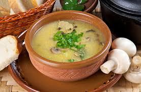 Грибной суп с кукурузной крупой