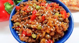 Овощи с коричневым рисом