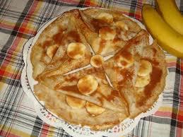 Кружевные блины с карамелизованным бананом