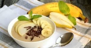 Крем-пудинг с грушами и бананами