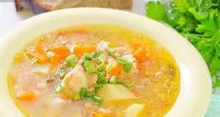Легкий овощной суп с рисом
