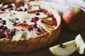 Пирог с клюквой (брусникой) и яблоками