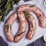 Колбаски из говядины с зеленью