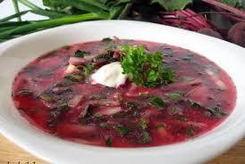 Суп из молодой свеклы с ботвой