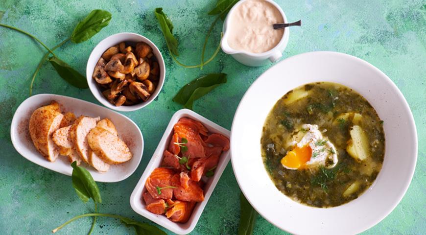 Быстрый щавелевый суп