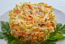 Салат из ветчины с корейской морковью