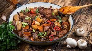 Рагу из свинины с фасолью