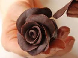 Шоколадные розочки