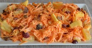 Салат морковный с ананасом и изюмом