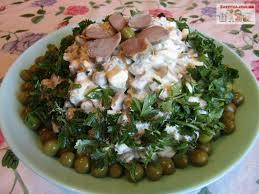 Бюджетный салат с куриными желудками и жаренными грибами