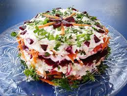 Слоеный салат «Овощной торт»