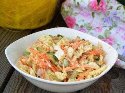 Салат из пекинской капусты с печенью трески «Беринг»