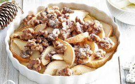 Печеные груши с орехами
