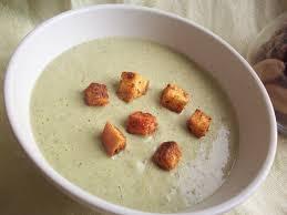 Суп с белыми грибами и сухариками