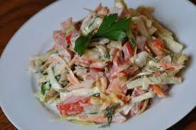 Салат «Венеция» с красной рыбкой и тофу