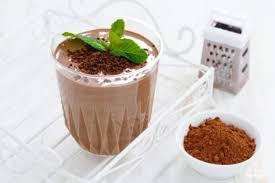 Коктейль из кефира с шоколадом