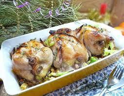 Цыплята-корнишоны с апельсинами и наршарабом