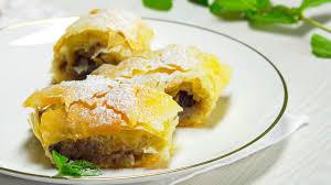 Пирожки из теста фило с мясом в средиземноморском стиле