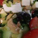 Салат с брынзой и грибами