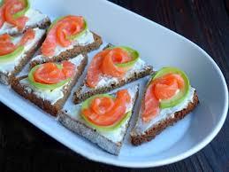Сэндвичи с лососем и киви