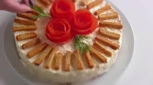 Салат «Крабовая слойка»