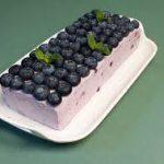 Десерт из голубики